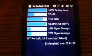 HTC Touch Pro battery life